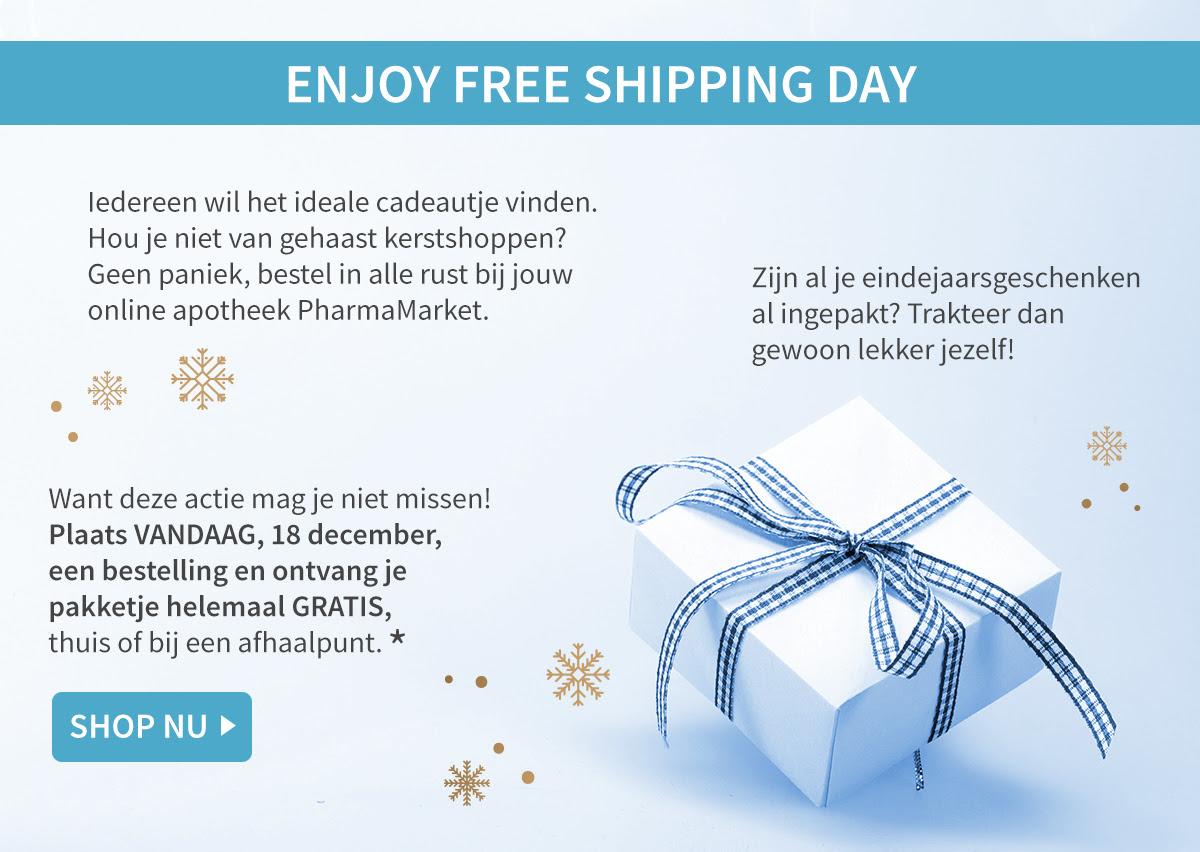 Vandaag gratis verzending op alles (geen minimale besteding) @ PharmaMarket
