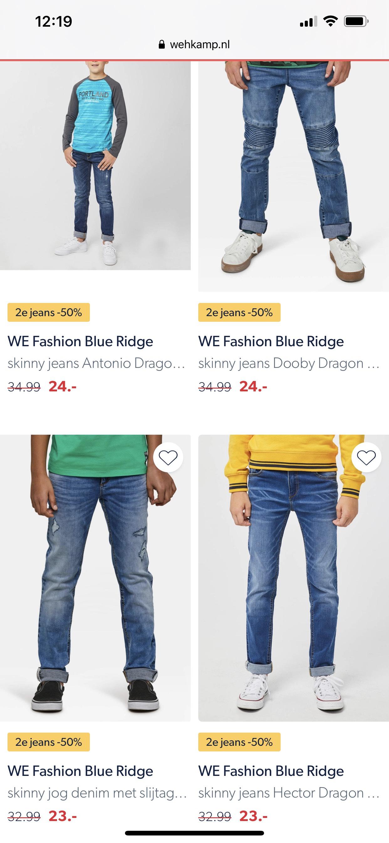 Jeans 2e halve prijs WE Fashion kids bij Wehkamp | OOK OP SALE