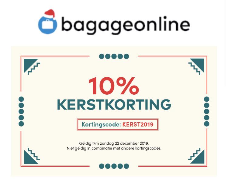10% kerstkorting bagageonline