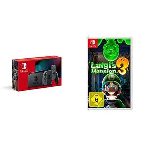 (Bundel) Nintendo Switch (2019 model) Grijs of Rood/Blauw + Nintendo Luigi's Mansion 3 @Amazon.de