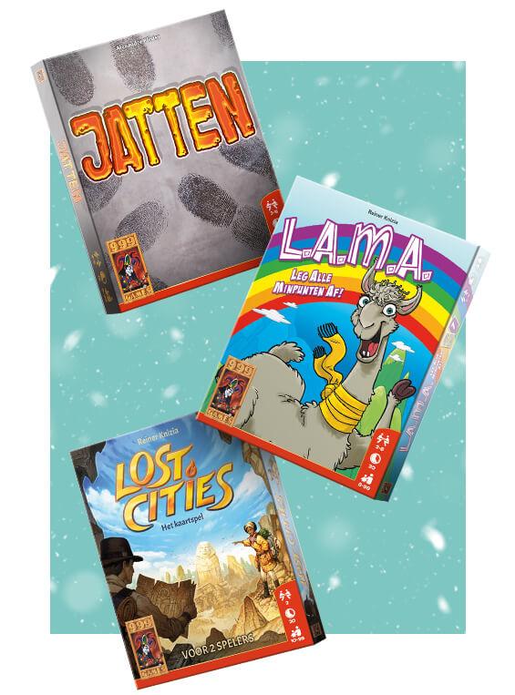 999 Games Advent - Combokorting met Tessa - 3 spellen 10 euro gratis thuisbezorgd