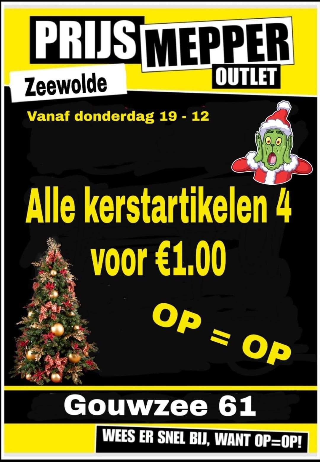 Lokaal - 4 kerstartikelen voor €1