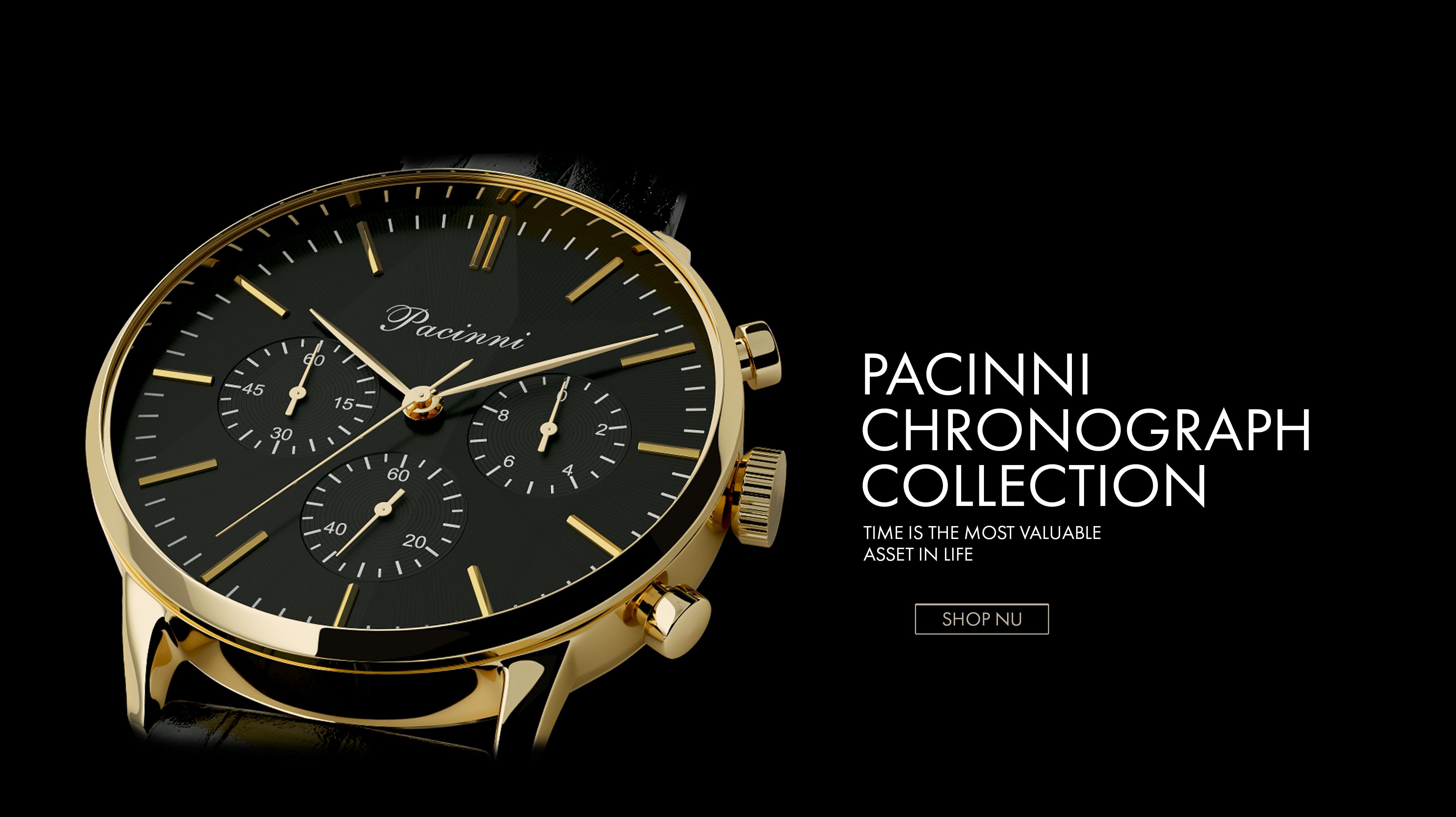 Dubbele korting op horloges bij Pacinni.nl