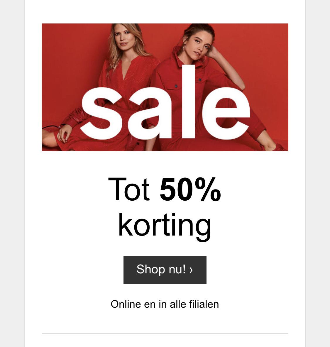 Sale bij C&A tot 50% korting