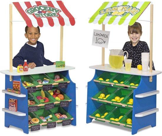 Melissa & Doug houten winkeltje / limonadekraam @ Wehkamp