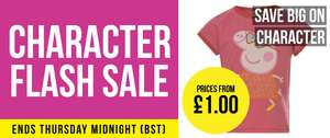 Character Flash Sale met o.a. Minions T-shirt voor €1,80 @ Sportsdirect