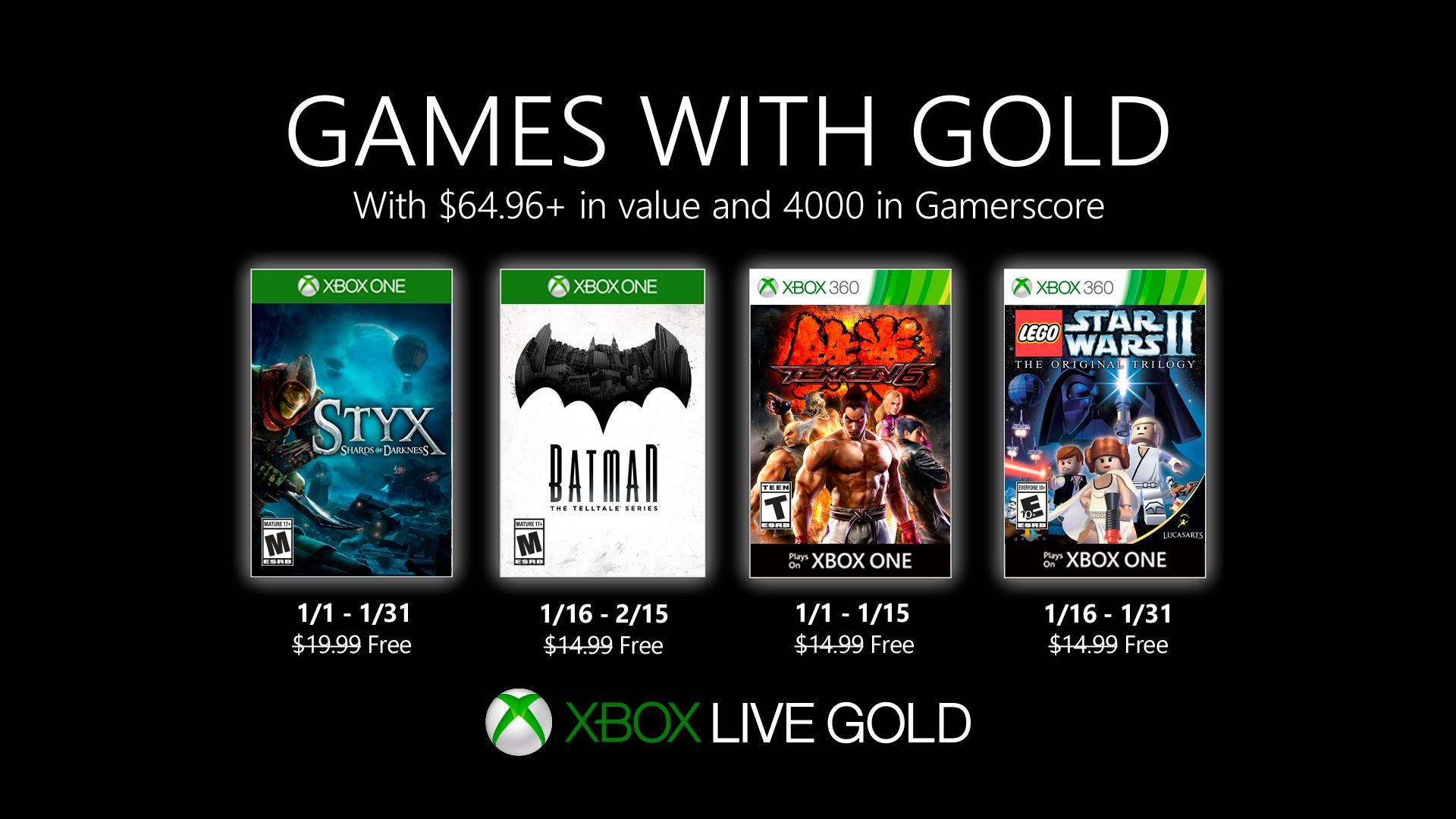 Games with Gold voor januari 2020