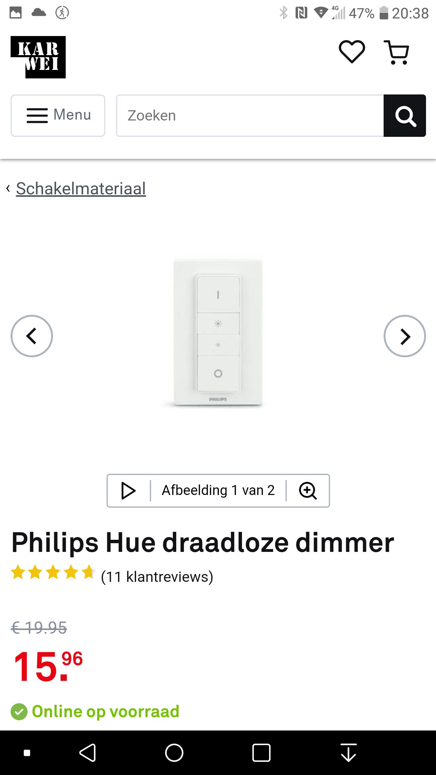 Philips Hue draadloze dimmer bij de Karwei