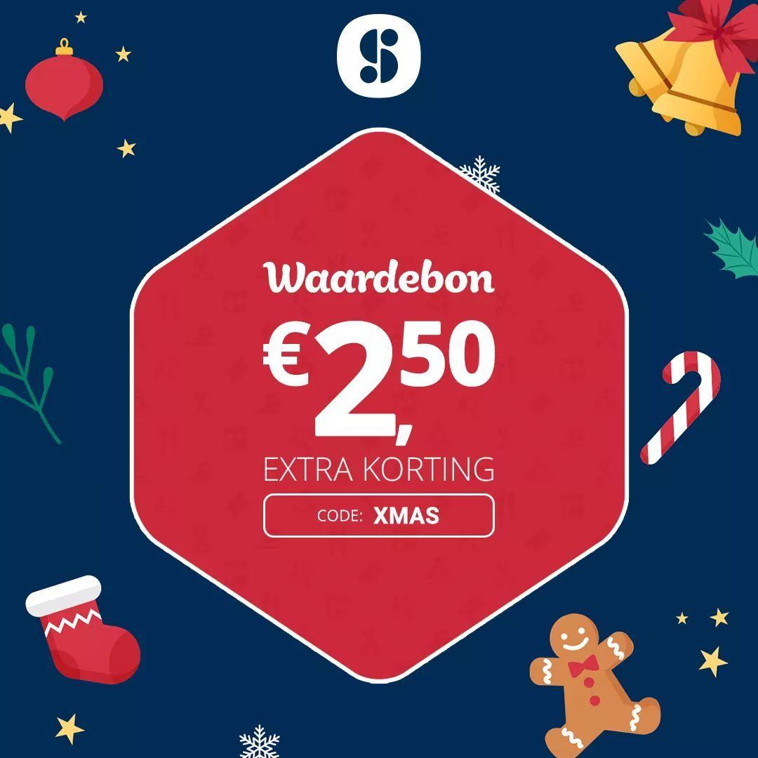 2.50 euro korting bij Social deal!