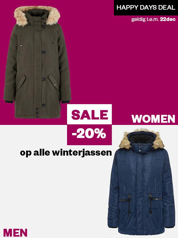 Winterjassen - dames & heren - 20% EXTRA korting @ Maison Lab