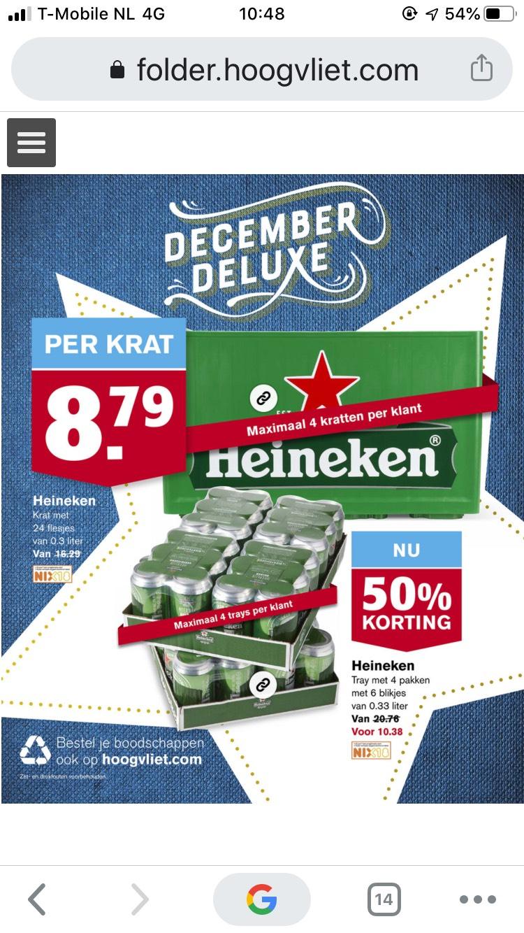 [Hoogvliet] krat Heineken 8,79