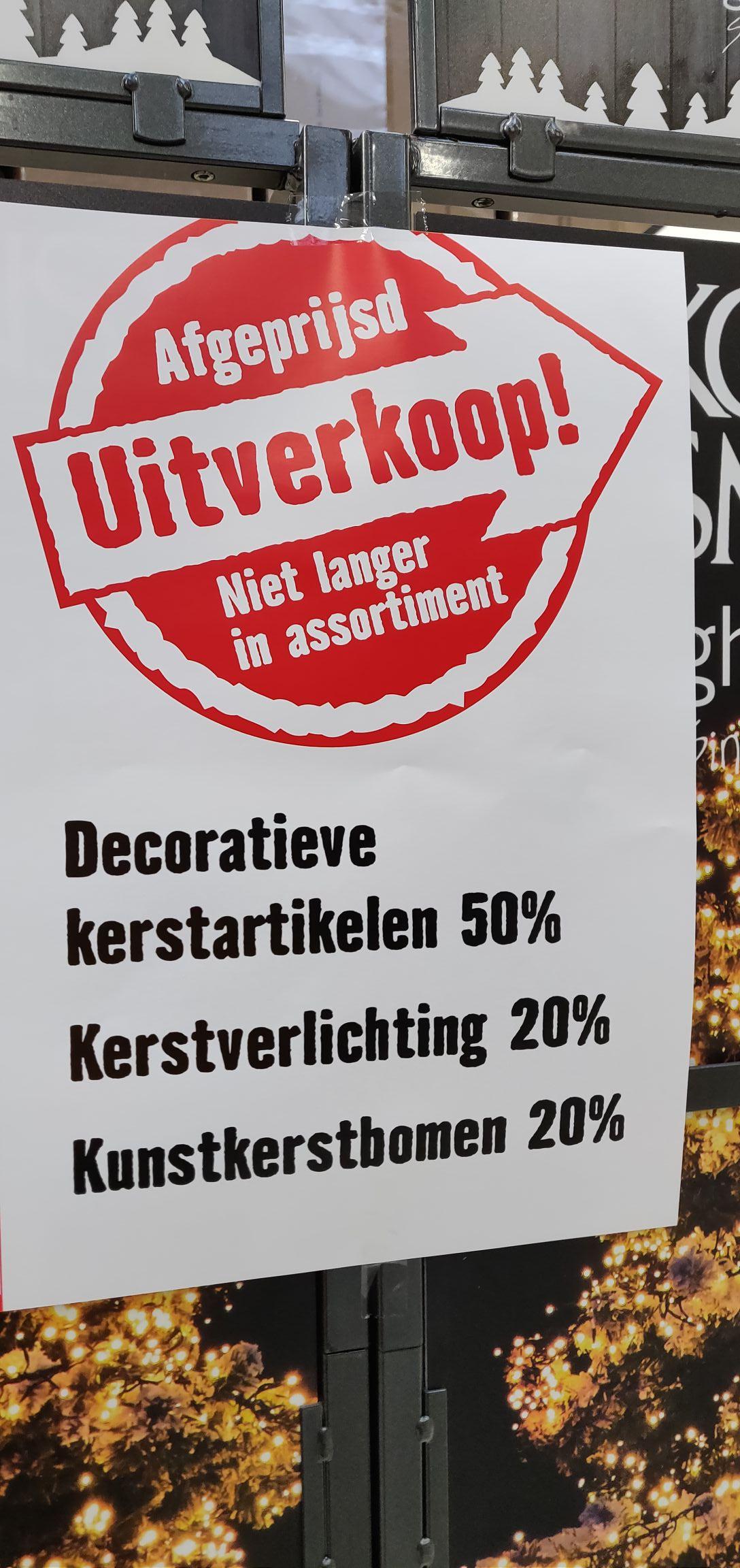 Kerstdecoratie 50% korting @Hornbach Den Haag