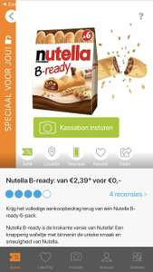Gratis Nutella B-Ready 6-pack via Scoupy