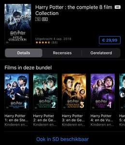 Harry Potter digitale 4K 8 film collectie
