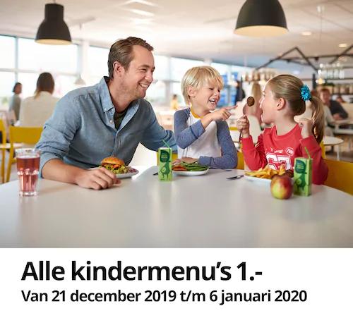 Alle kindermenu's €1 bij IKEA Duiven