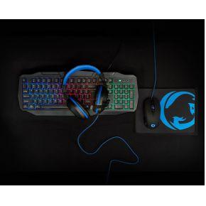 Nedis Gaming Combo Kit | 4 in 1 | Qwerty US Toetsenbord, Koptelefoon, Muis & Muismat