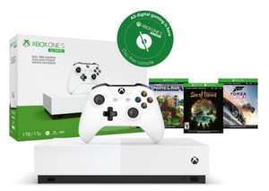Microsoft Xbox One S All-Digital Edition Wit 1TB + Controller & Minecraft, Forza Horizon 3, Sea of Thieves