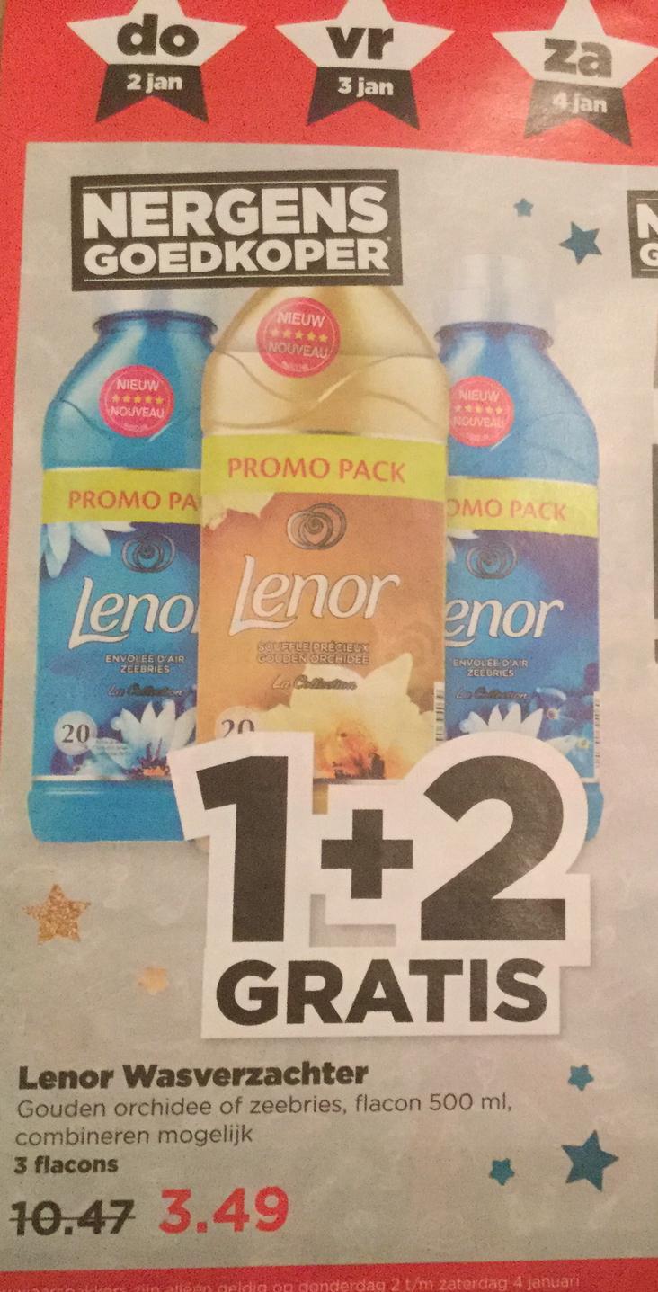 3=1 Lenor Wasverzachter (Nieuwjaarspakkers) PLUS supermarkt