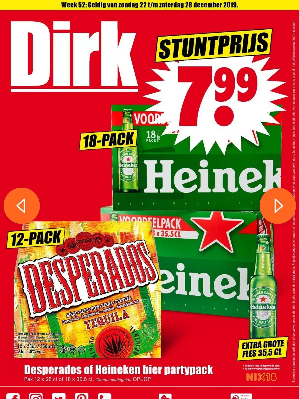 DIRK 12-pack Desperados 25cl en 18x35,5cl heineken