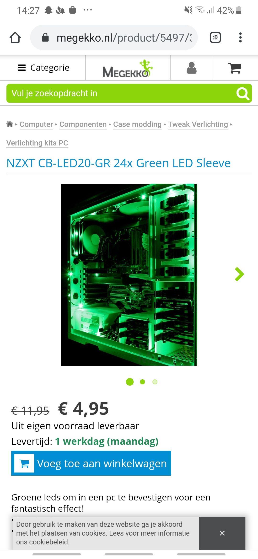 NZXT CB-LED20-GR 24x Green LED Sleeve