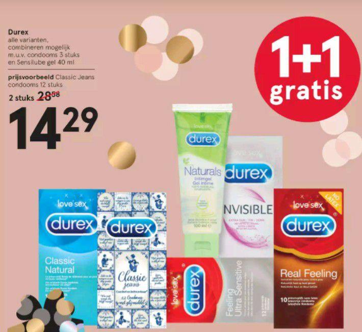 Durex 1+1 gratis @Etos & @Kruidvat