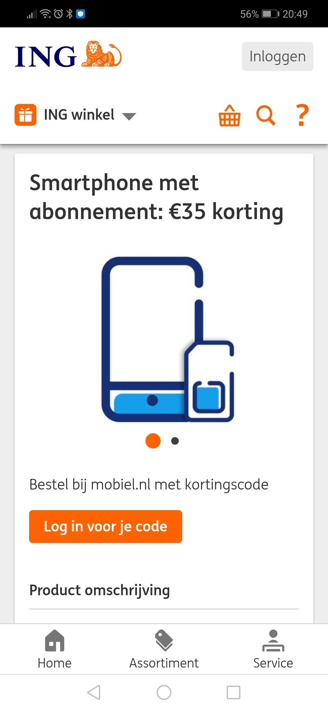 35 euro korting mobiel.nl abonnement plus smartphone