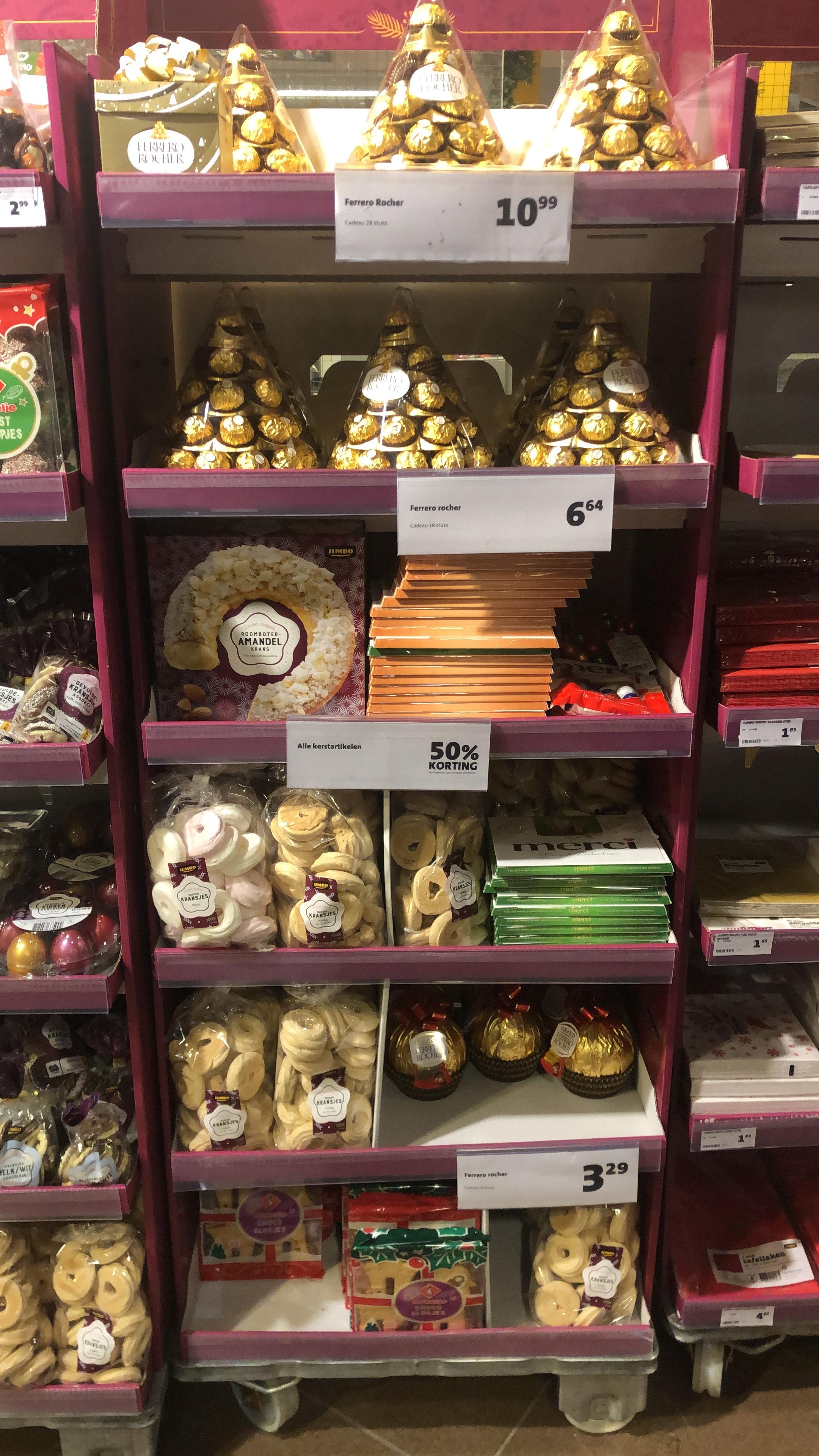 [Lokaal?] Jumbo 50% kassakorting op Merci / Ferrero Rocher kersteditie