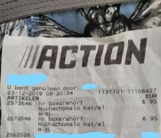 Muchachomalo boxershort (M-L-XL) €6,95 @Action