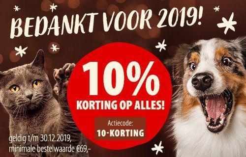 10% korting op alles bij zooplus.nl
