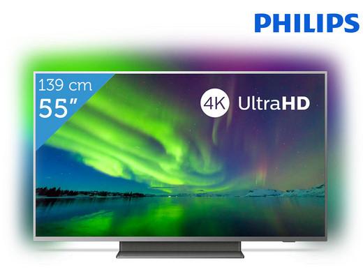 """Philips 55"""" 4K Ultra HD Android LED TV voor €549,95 (ex verz.) bij Ibood"""