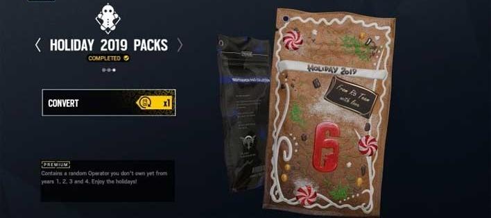 Gratis Holiday Pack met Operator uit jaar 1-4 @ Rainbow Six Siege