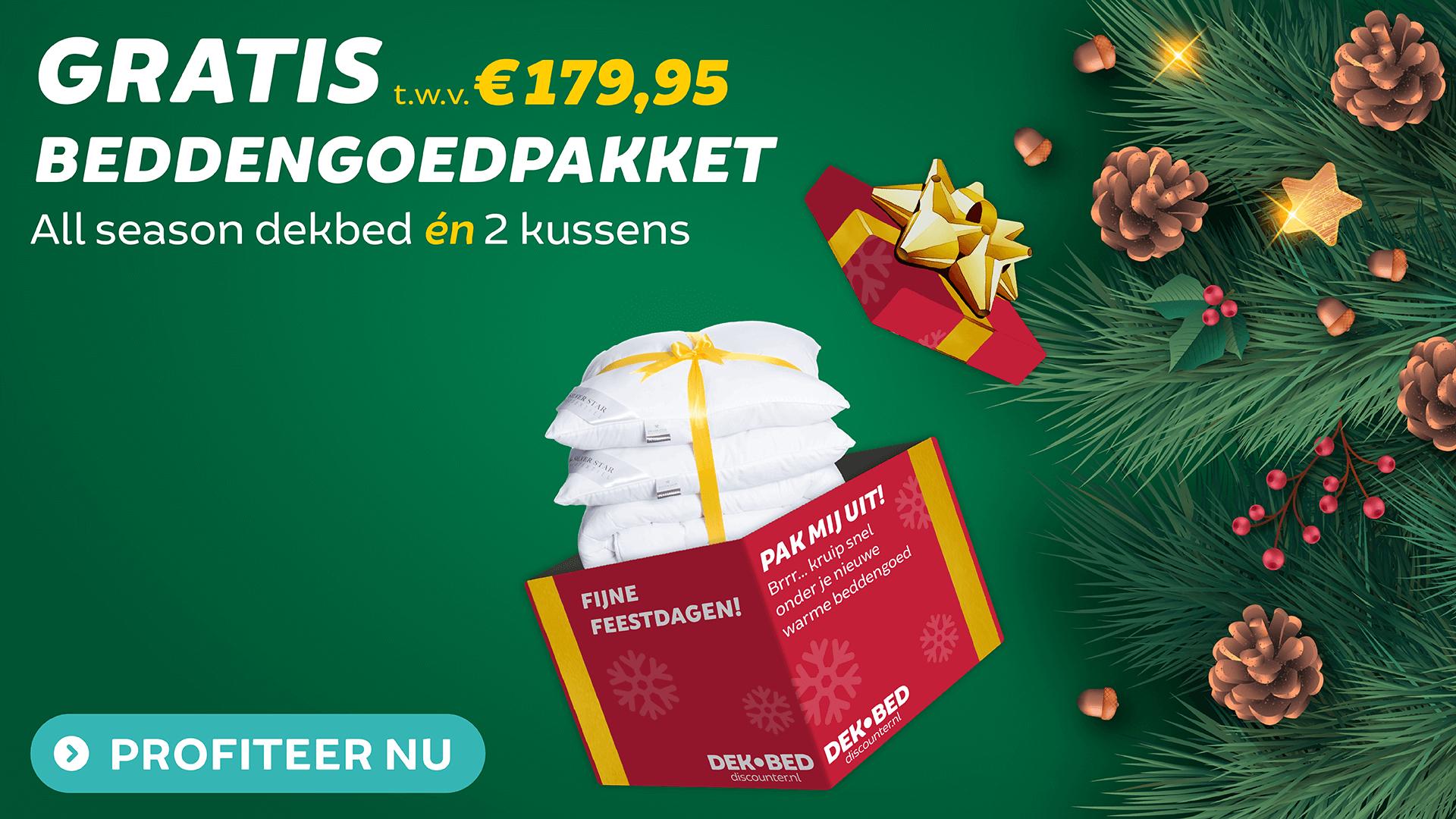 Gratis beddengoedpakket bij aankoop van €39,95 aan geselecteerde producten