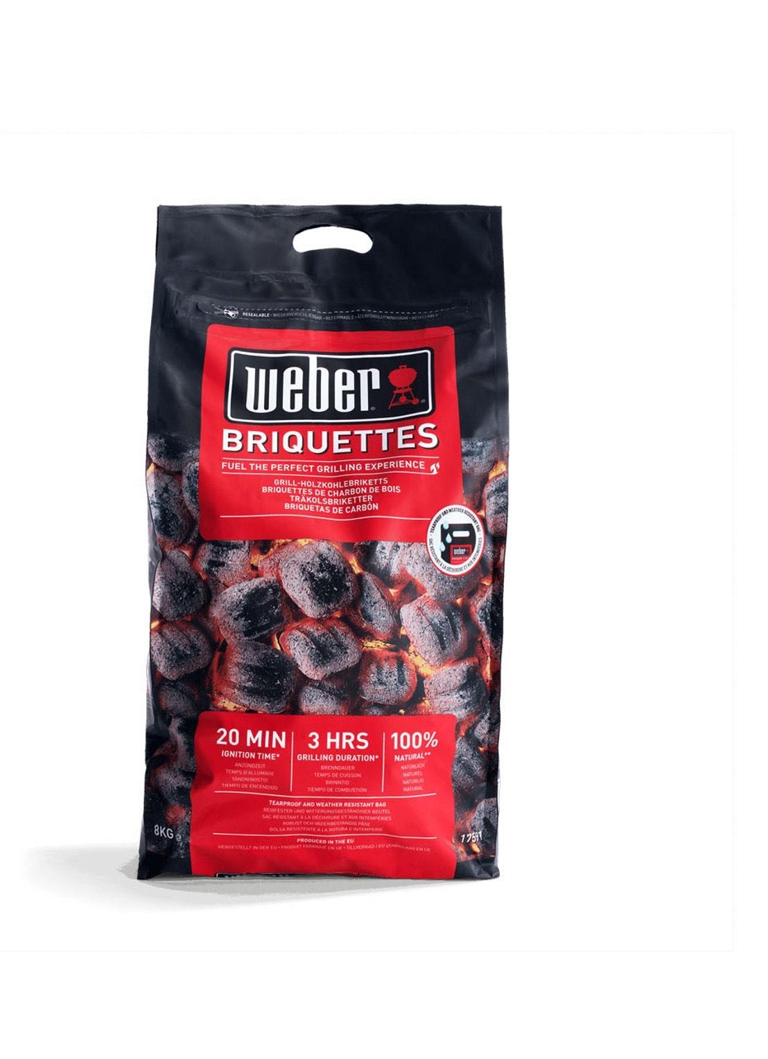 Weber briketten 8kg verpakking