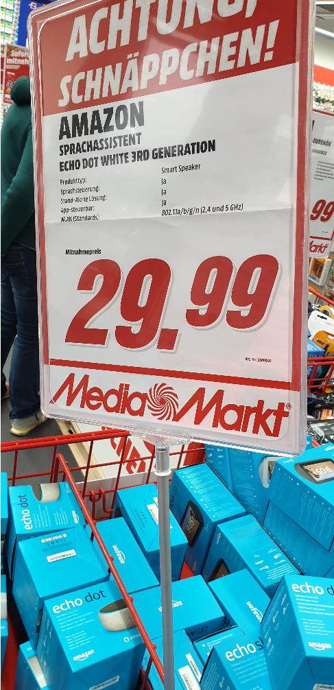 [Grensdeal] Mediamarkt.de Amazon ECHO DOT 3rd gen & ECHO SHOW 5 1st gen