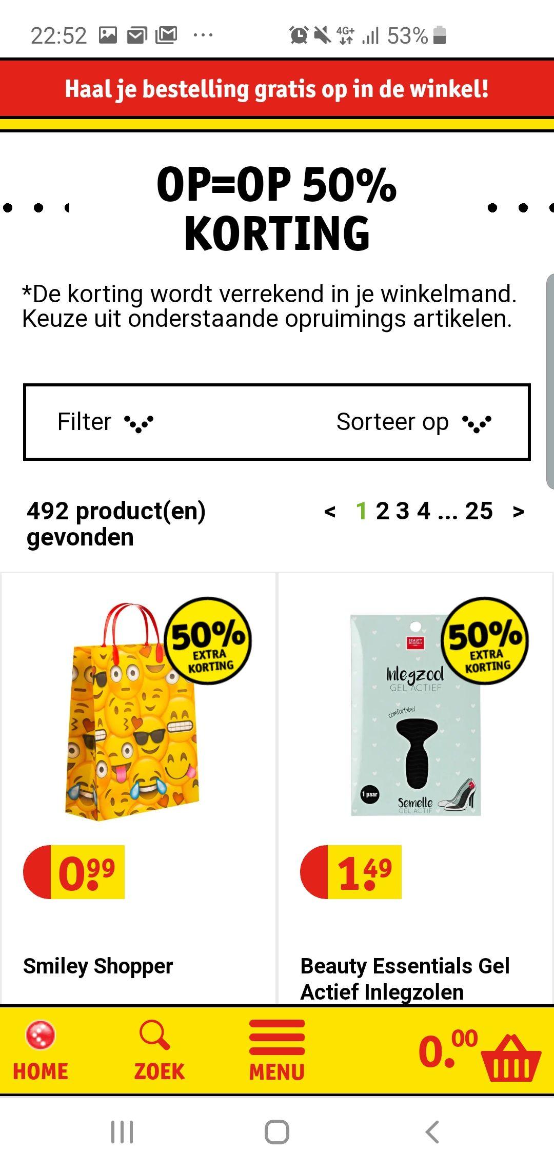 50% Korting op veel producten @Kruidvat