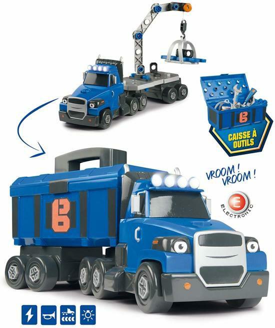 SMOBY Bob de Bouwer elektronische vrachtwagen met gereedschapskist