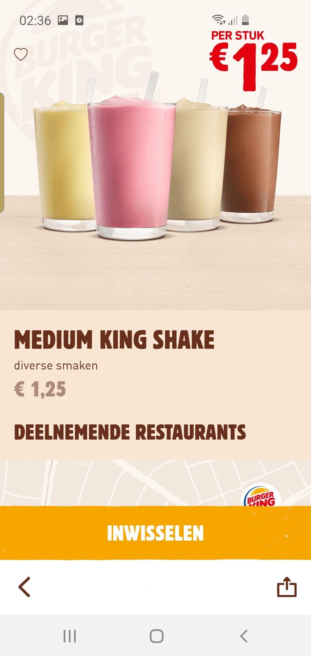 Milkshake bij burgerking