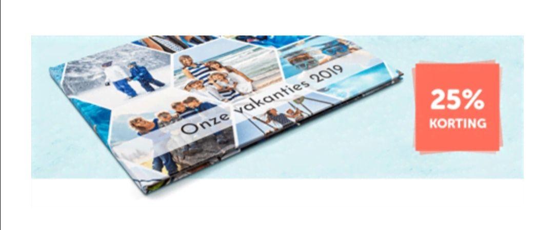 25% korting op ALLE Hardcover Fotoboeken