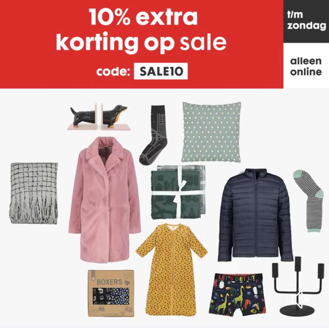 10% extra korting op de sale bij Hema