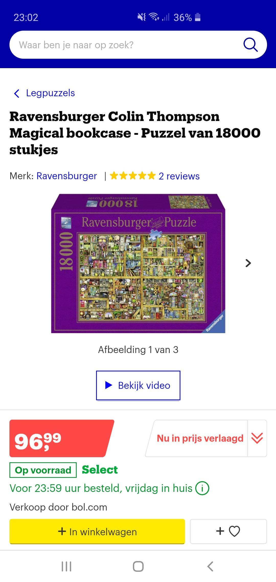 Puzzel 18000 stuks Ravensburger