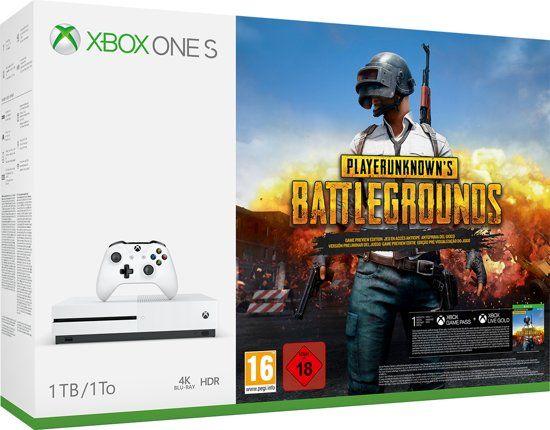 Xbox One S 1TB (met discdrive) + PUBG