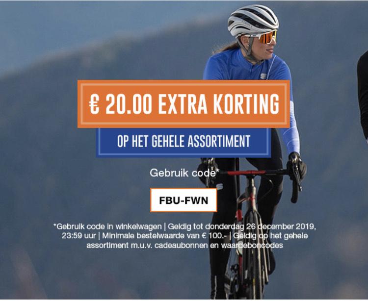 €20 Korting op fiets- en hardloopaccessoires