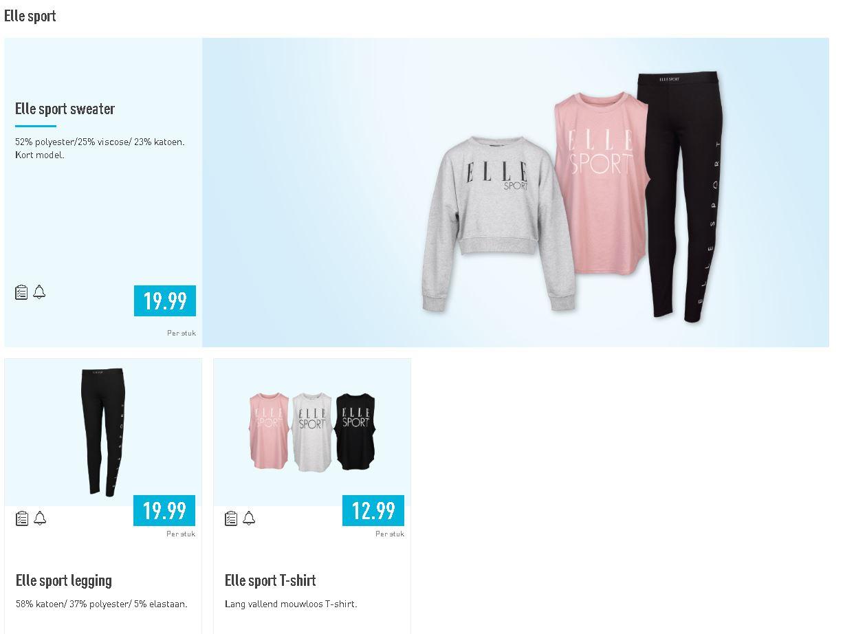 Elle sportswear bij Aldi v.a. donderdag 2-1