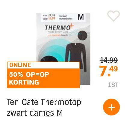 Dames en heren Ten Cate thermotops v.a. maat M bij AH