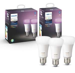 3x Philips Hue White & Color Ambiance E27 lamp bluetooth