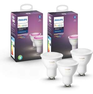 3x Philips Hue White & Color Ambiance GU10 bluetooth