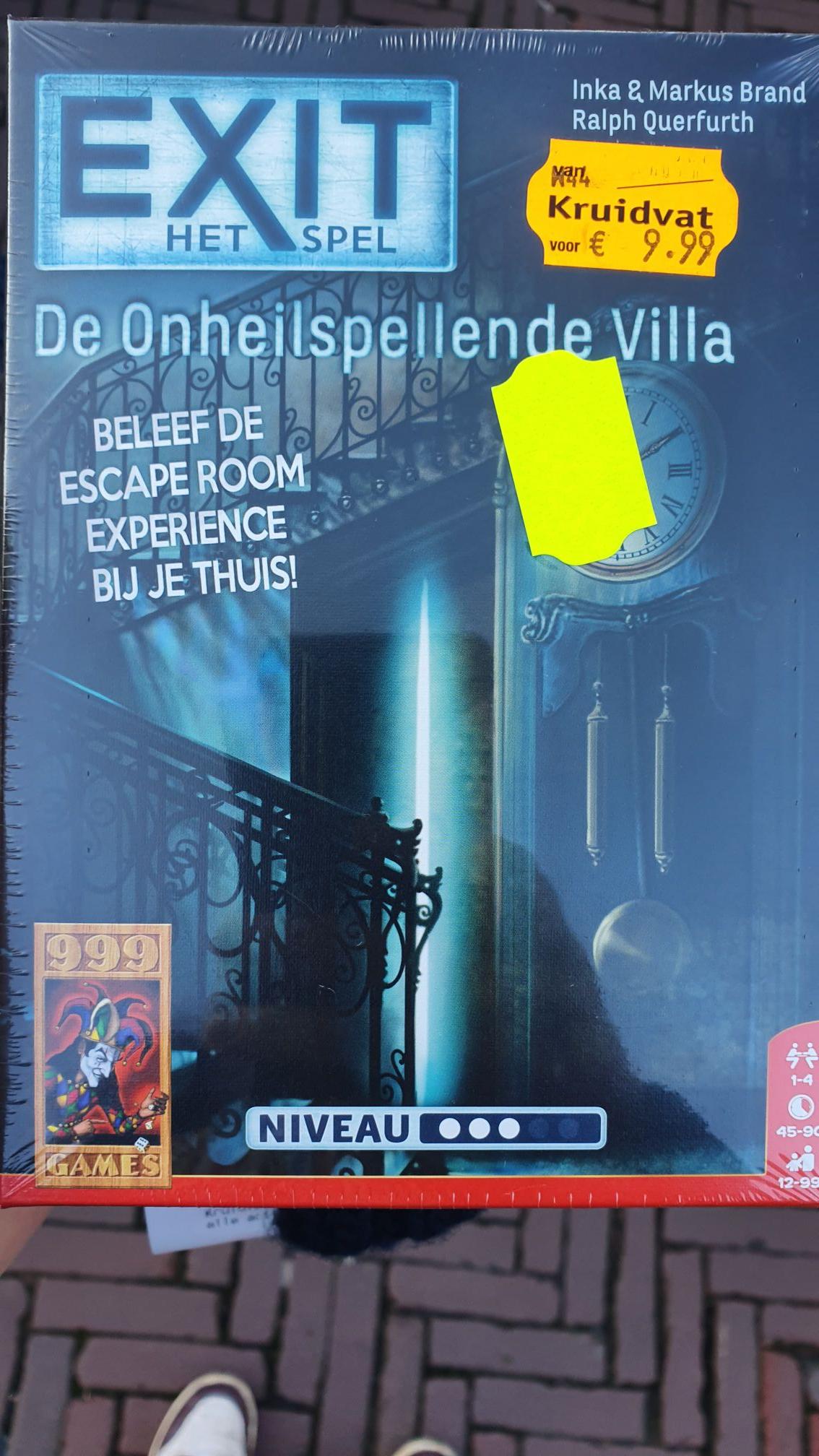 Escape Game: De onheilspellende Villa @Kruidvat voor 4,99