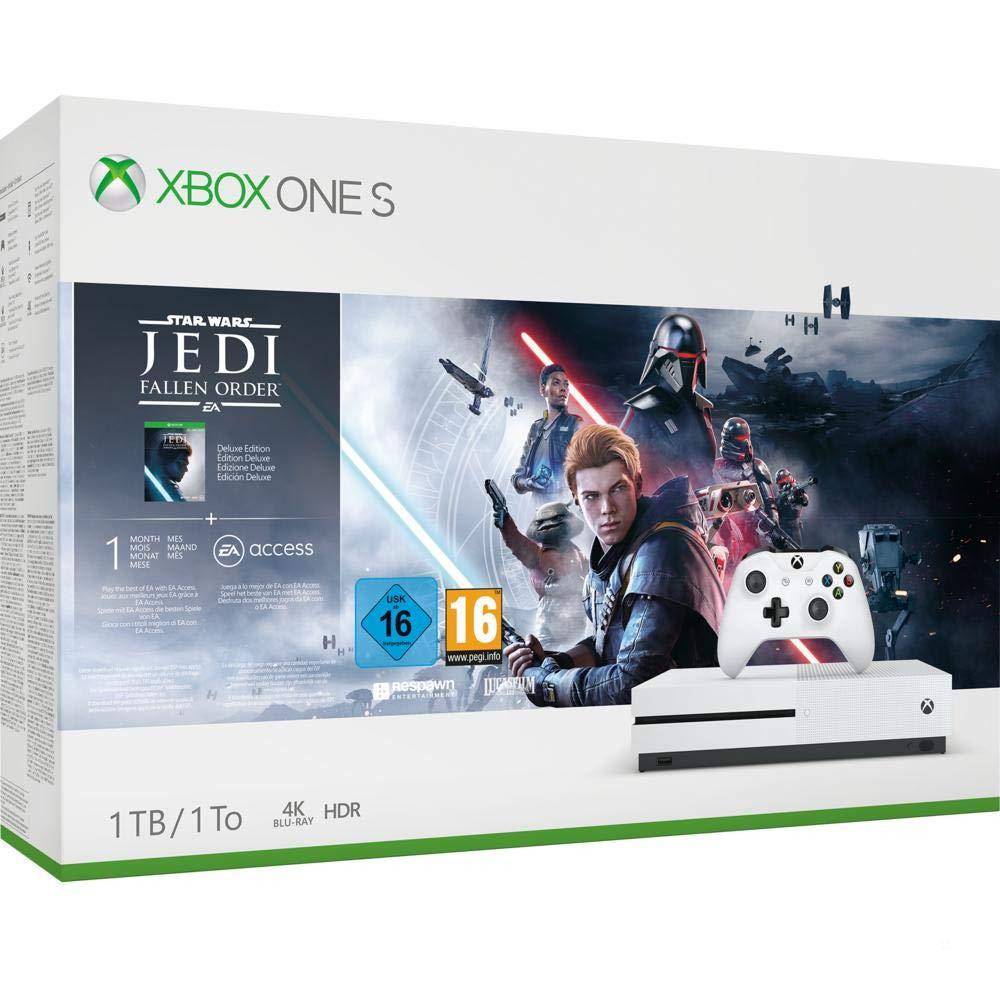 Xbox One S 1 TB (discversie) + Star Wars Jedi of Forza Horizon of Division 2 €161,32 @ amazon.fr