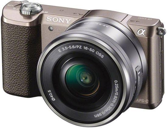 Sony A5100 systeemcamera (bruin) met kitlens (16-50mm f/3.5-5.6) @ Bol.com