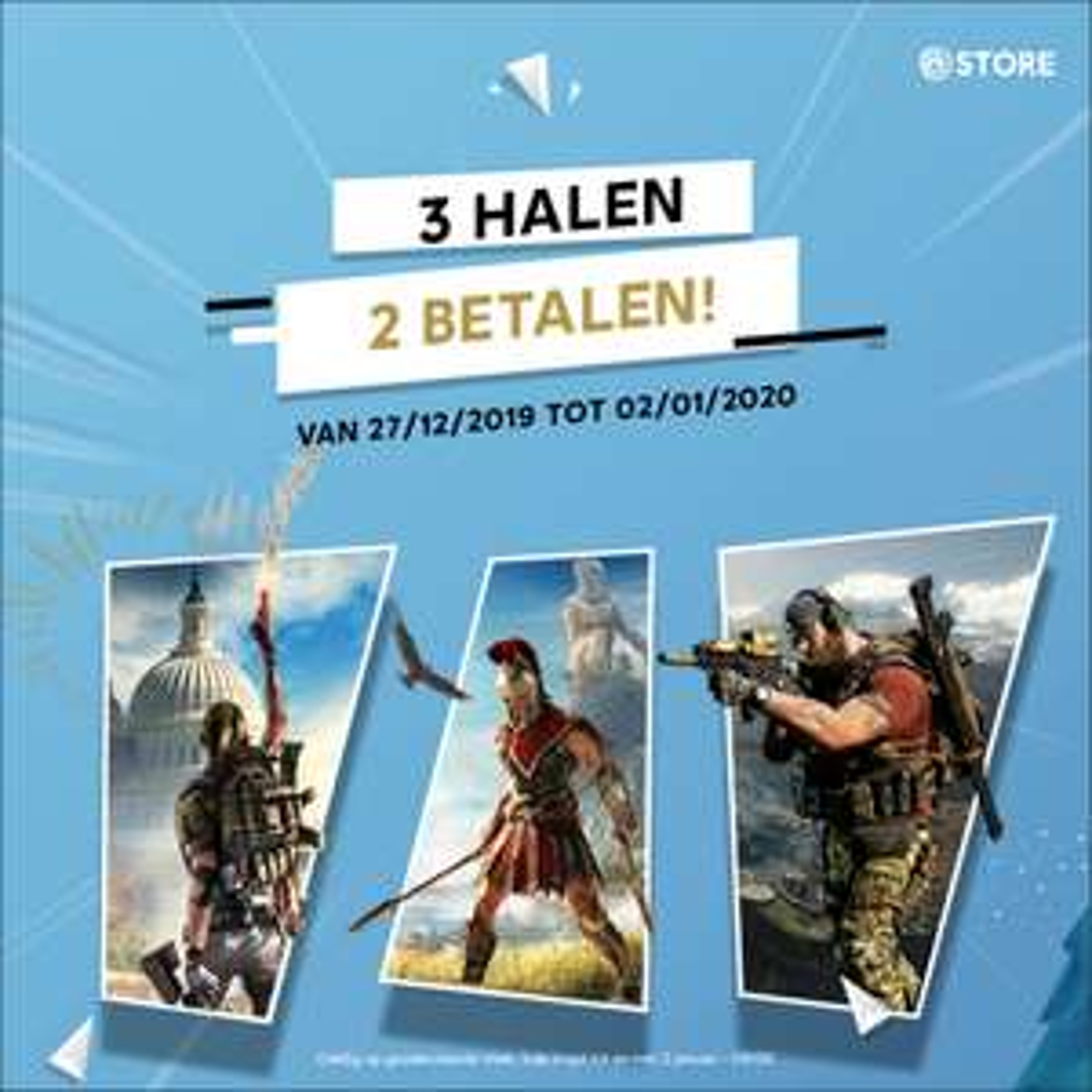 3 halen 2 betalen op diverse games (+ 20% korting) @ Ubisoft Store
